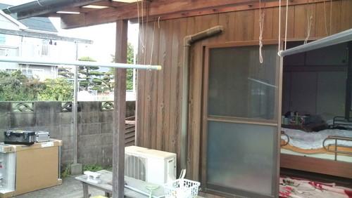 山口市阿知須 Y様邸 パナソニック新型エアコン CS-X281C 取付工事