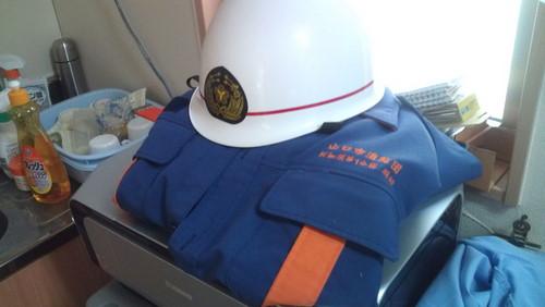 山口市消防団阿知須方面隊 小型ポンプ操法大会練習
