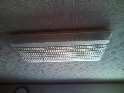 山口市佐山 M様邸 シャープ LEDシーリングライト 取替工事