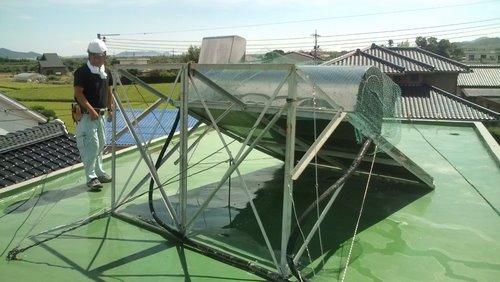 山口市佐山 H様邸 太陽熱温水器 取替前3