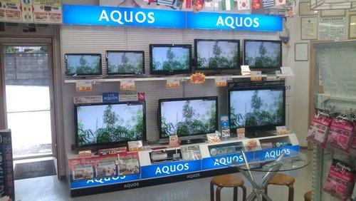 店頭テレビ展示