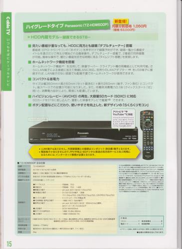 山口ケーブルビジョン STB(セットトップボックス) ハイグレードタイプ TZ-HDW600P