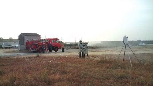 山口市消防団阿知須方面隊 秋の消防訓練