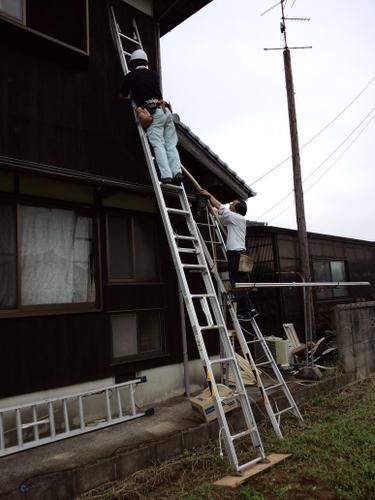 山口市佐山 F様邸 シャープ エアコン AY-A22SE 取り付け工事