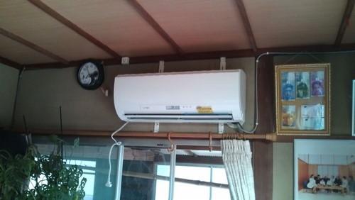 山口市阿知須 F様邸 三菱電機 エアコン MSZ-GR400S 取付工事