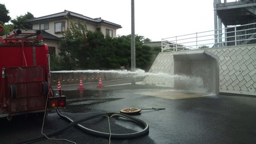 山口市消防団阿知須方面隊第1分団 車両定期点検実施