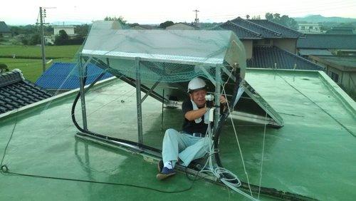 山口市佐山 H様邸 太陽熱温水器 取替後2