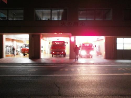 山口市消防団阿知須方面隊第1分団 年末夜警実施