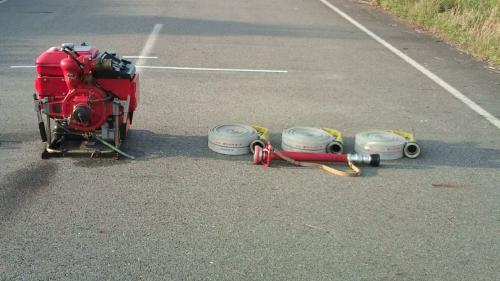 2010年 消防団 小型ポンプ操法 練習2