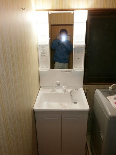 山口市阿知須 O様邸 TOTO 洗面台取付工事