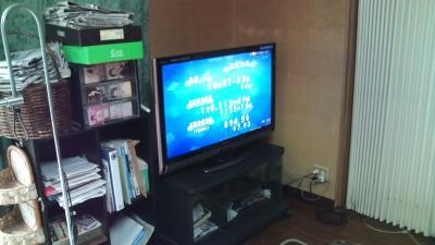 シャープ BD内蔵液晶テレビ LC-40DX3 据付後