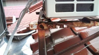 エアコン 屋根置き台 腐食