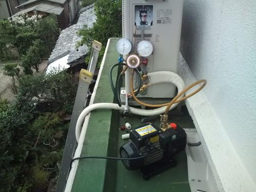 山口市阿知須 F様邸 富士通エアコン AS-S40A2 取付工事