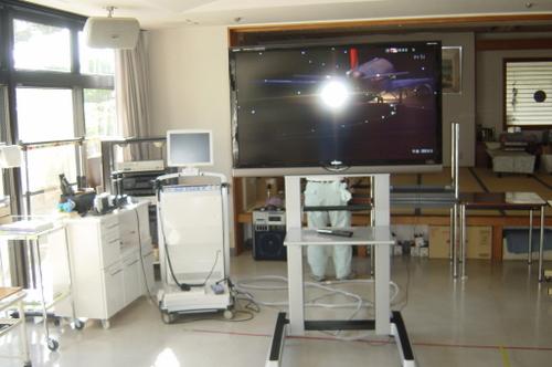 移動式 大画面液晶テレビ 完成写真