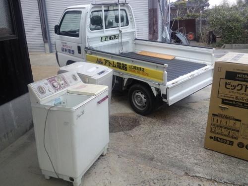 山口市阿知須K様邸 日立ビックドラム 洗濯乾燥機 BD-V1300L 納品