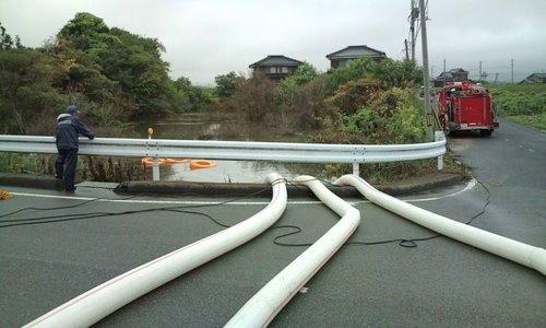 山口市消防団阿知須方面隊 2009年豪雨災害出動記録8
