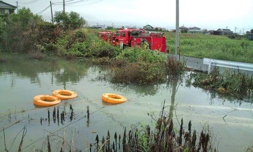 山口市消防団阿知須方面隊 2009年豪雨災害出動記録9