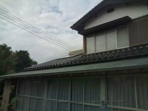 山口市佐山 Y様邸 太陽熱温水器 エコワイター SW1-211L 取替工事