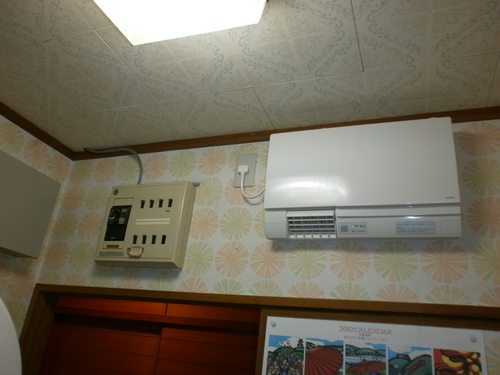 山口市阿知須 N様邸 TOTO 洗面所用暖房機 TYR340