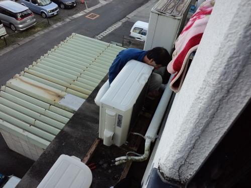 山口市阿知須 N施設様 三菱エアコン 入替工事