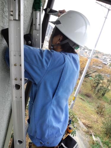 山口市阿知須 N様邸 三菱 エアコン MSZ-GV251 取付工事