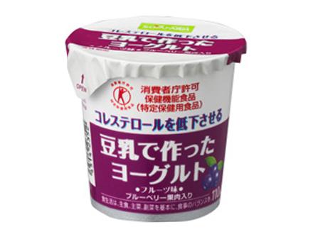 豆乳で作ったヨーグルト フルーツ味 ブルーベリー果肉入り