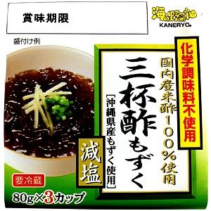 カネリョウ海藻 味付もずく( 三杯酢) 化学調味料不使用 減塩
