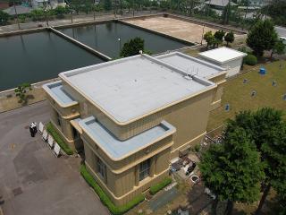 六供浄水場 給水塔からポンプ室