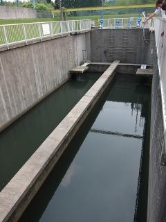 男川浄水場 沈砂池