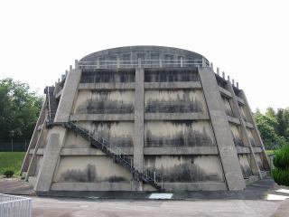 男川浄水場 洗浄水槽