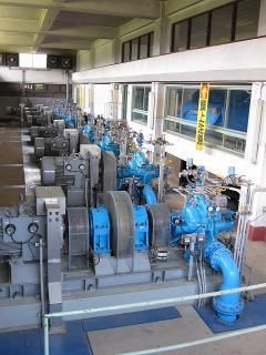男川浄水場 送水ポンプ