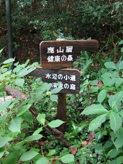 健康の森・應山居への分岐点