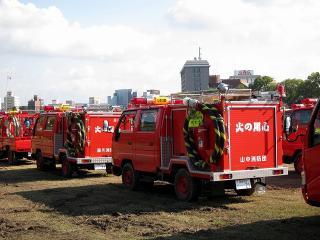 消防団連合観閲式