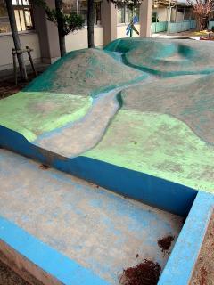 小学校 地形模型