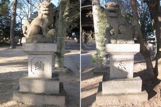白山社の狛犬