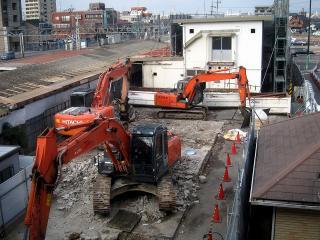 岡崎駅 旧駅舎 解体