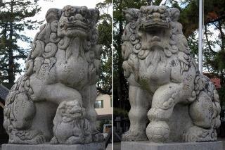 八幡社の狛犬