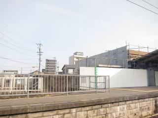 解体中の旧岡崎駅