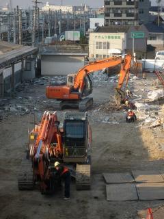 旧岡崎駅解体工事