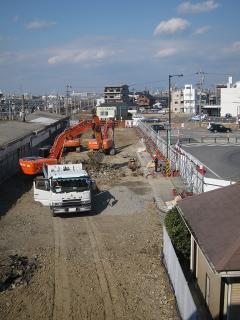 旧岡崎駅解体現場