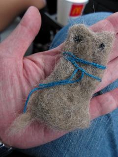 ねこの毛の指人形