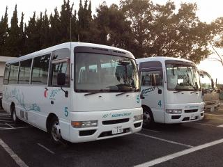 駐車場にいた鈴鹿サーキットのバス