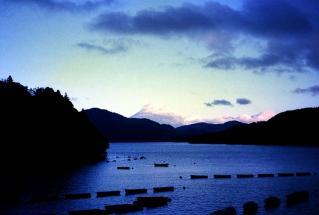 芦ノ湖から富士山