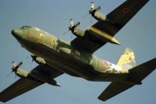 航空自衛隊創設40周年記念塗装機 C-130H