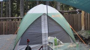 キャンプ一日目テント