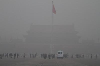 微小粒子状物質PM2.5の影響で有害物質を含んだ大気汚染