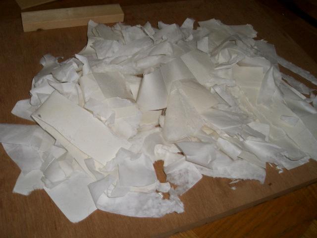 剥がした紙