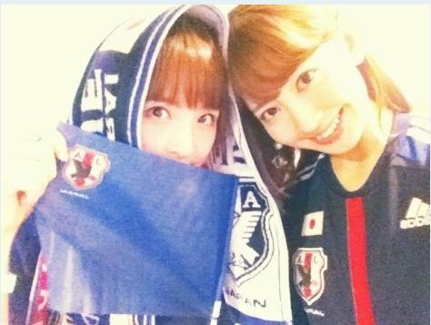おもしろサッカーSEO対策!-AKB48小嶋陽菜さん歴史的瞬間に感動しました