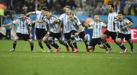 PK戦勝利のアルゼンチン代表