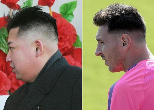 メッシと金正恩の髪型比較画像